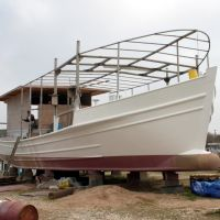 Aluminium Lugger Under Construcion, Слатон