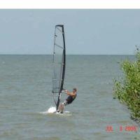 Windsurfing Galveston Bay, Тексас-Сити