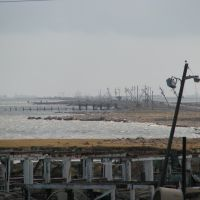 Texas City dike, post Hurricane Ike, Тексас-Сити