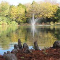 Water fountain in Watterworth Park, Фармерс-Бранч