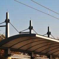 Suspended Platform Awnings at Farmers Branch Light Rail Station, Фармерс-Бранч