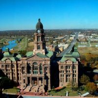 Tarrant County Courthouse from Wells Fargo bldg, Форт-Уэрт