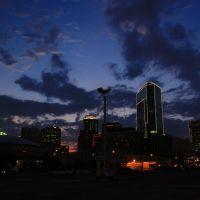Downtown at dusk, Форт-Уэрт