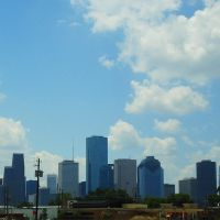 Downtown Houston skyline as seen from I-10, Хьюстон