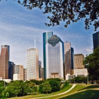 Houston Skyline with Heritage Plaza (in Center), Хьюстон