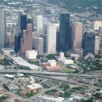 Aerial view of Downtown Houston, Хьюстон