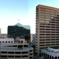 Downtown El Paso from parking structure [Fixie Garage Climbing], Эль-Пасо
