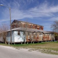 abandoned Oyster packing house, these once lined the river bank, historic Apalachicola Florida (11-27-2011), Апалачикола