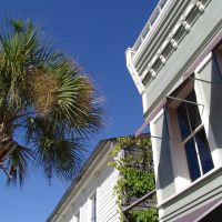 Victorian era frame buildings, historic Apalachicola Florida (11-26-2011), Апалачикола