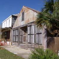 abandoned wood buildings, soon to be restored, historic Apalachicola Florida (11-26-2011), Апалачикола
