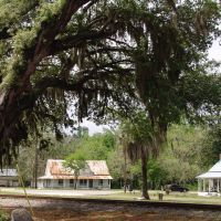 historic Cracker houses facing old railroad tracks, Brooker Fla (3-31-2012), Брукер