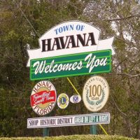 Havana, FL welcome sign (2010), Гавана