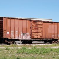 South Central Florida Express Railroad Box Car No. 3838 at Clewiston, FL, Гарлем