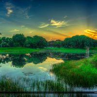 Dreher Park Sunrise at Lake West Palm Beach Florida, Глен-Ридж