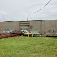 Canadian National Railways, Ex Illinois Central Railroad, Box Car No. 670411 at Bartow, FL, Гордонвилл
