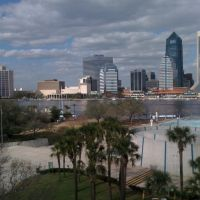 Downtown Jacksonville, FL overlooking Friendship Park from the top of the MOSH Building (Left View), Джексонвилл