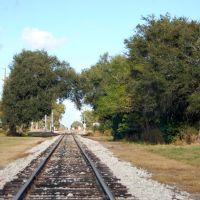Florida Midland Railroad Mainline, looking North, at Eagle Lake, FL, Игл-Лейк