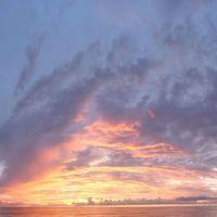 incredible fiery sunset panoramic, 1of3, Indian Rocks Beach (9-25-2011), Индиан-Рокс-Бич