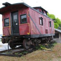 Old train in Carrabelle FL, Каррабелл