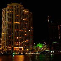 Miami, Florida - Usa - Burlingame Island at Night, Майами