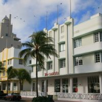 Carlyle and Leslie Hotels (Art Deco architecture), Miami Beach, Майами-Бич