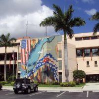Hialeah City Hall Building and Art Wall, Майами-Спрингс