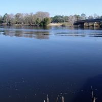 panoramic of Blackwater River, looking north to east from downtown Milton Fla (12-31-2011), Милтон