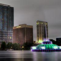 Lake Eola Fountain at Night - Orlando, FL, Орландо
