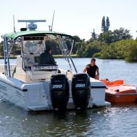 Sheriff catches speeding boat at Osprey, Florida, Оспри
