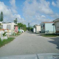 Calle dentro de un area de casas trailer, Пайнвуд