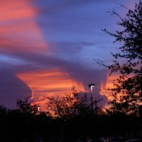 Puesta de sol en West Park, Florida, EE. UU., Пемброк-Парк
