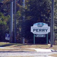 2010 Perry North, FL, USA - Perry limit sign, Перри