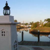 Au petit matin, vue sur les canaux, Порт-Шарлотт