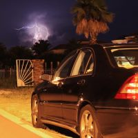 Lightning Striking Tampa Bay near the Sunshine Skyway Bridge, Рускин
