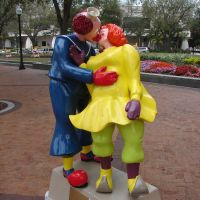 Clown Statue in Sarasota Florida, Сарасота