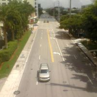 Looking N. onto SW 72 av. from S. Mia. Hosp. walking bridge (2013), Саут-Майами