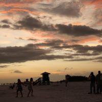 Sunset at Siesta Key Beach, Florida, Сиеста-Ки