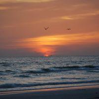 Beautiful sunset at Siesta Key, Сиеста-Ки