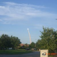 Space Shuttle Atlantis Launch; Titusvillage in Titusville Florida on June 8, 2007, Титусвилл