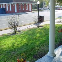old Fort Meade railroad depot, from porch of old schoolhouse (2-2009), Форт-Мид
