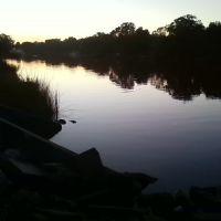 hills river at dusk, Хамптон