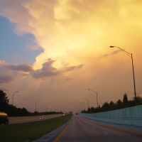 awesome storm clouds during sunset, Suncoast Parkway, 7:54pm, Hillsborough Co (4-3-2008) 2of4, Хамптон