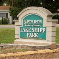 Sign at Lake Shipp Park, Winter Haven, FL, Элоис