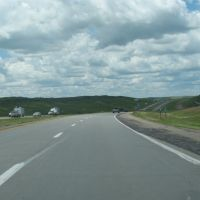 I-90 west of Oacoma, Ватертаун