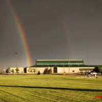Rainbows over Cabelas in Mitchell, South Dakota, Митчелл