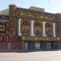 mitchell, south dakota, corn palace, front, Митчелл
