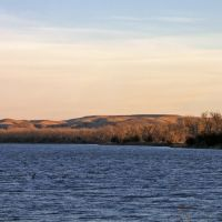 Missouri River and La Framboise Island from Pierre, Пирр