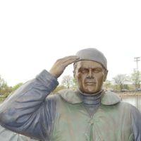 Bronze figure in World War II Memorial in Pierre SD, Пирр