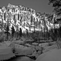 Spearfish Canyon, Winter in South Dakota, Спирфиш