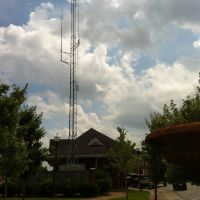Dillon, SC June 2013 Amtrak and CSX Station good example of Track radio communication tower, Диллон